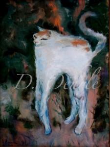 Pierre Bonnard-Le Chat Blanc 1894 Oil on Canvas