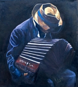 Tanguero Playing a Bandoneon