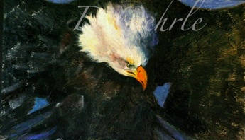 American Bald Egale oil on board 20x12 2009
