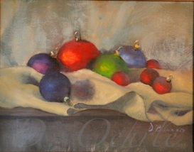 Christmass Balls oil on linen 14x11  2006